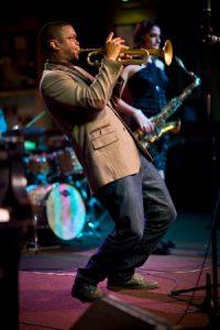 Trumpeter Maurice Brown