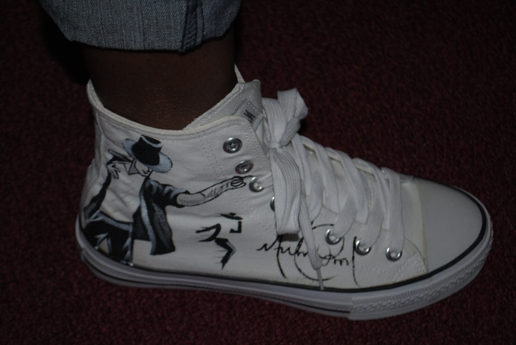 Michael painted shoes