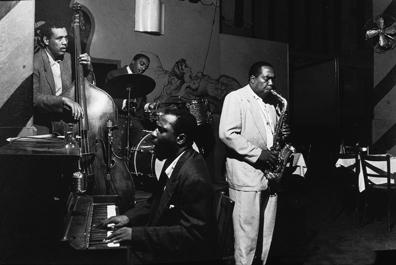 Jazz Musicians Play At Open Door