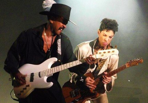 Larry Graham with Prince