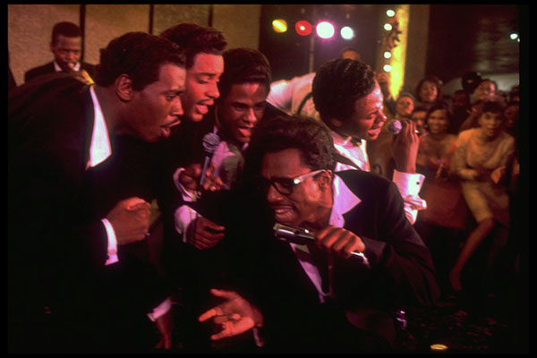 """Leon (front center) as David Ruffin in """"The Temptations"""""""