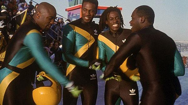 """(l-r) Malik Yoba, Leon, Doug E. Doug and Rawl D. Lewis in """"Cool Runnings"""""""
