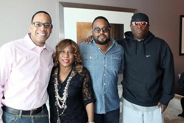 iRock Jazz Founder/CEO John Moultrie, Cheryl Davis, Erin Davis and Vince Wilburn, Jr. photo by Louis Byrd III