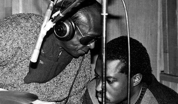 Miles Davis and nephew Vince Wilburn, Jr.