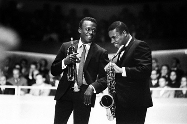 Miles Davis and Wayne Shorter